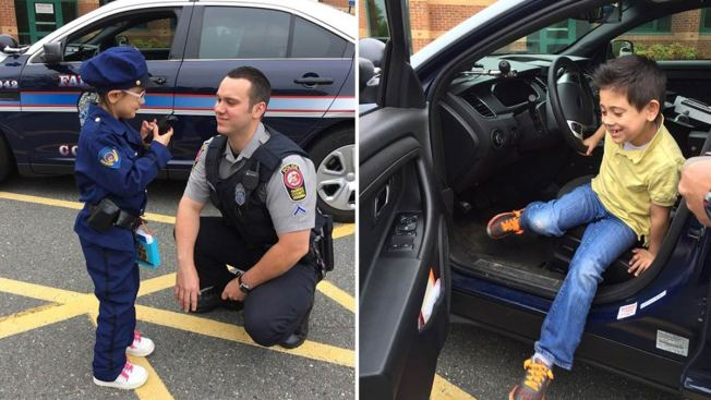 'Spontaneous Kindness': 7-Year-Old Aspiring Police Officer Enjoys Visit With Fairfax Police