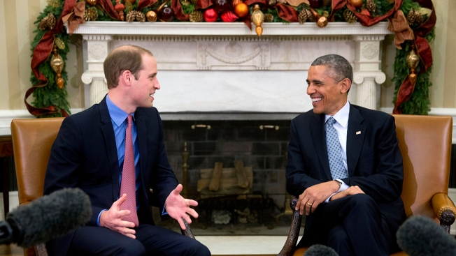 Royal Visit: Obama Meets With Prince William