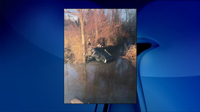Driver Suffering From Medical Emergency Crashes Into Creek