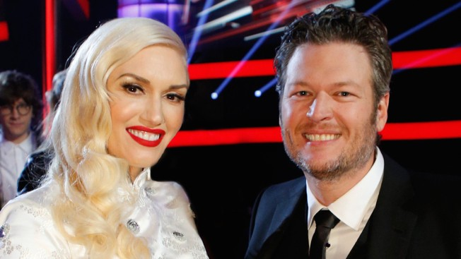 Blake Shelton Bites Gwen Stefani's Shoulder in 'The Voice' Group Shot