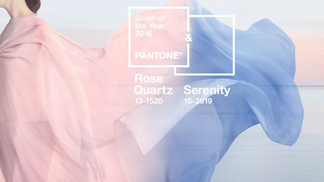 Rose Quartz and Serenity Announced as Pantone Colors of 2016