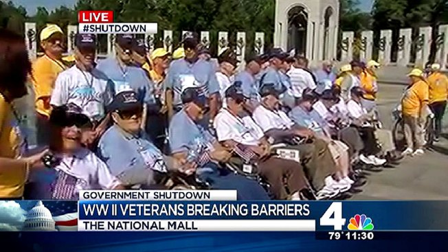 Veterans Granted Access to Closed World War II Memorial