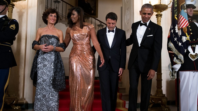 PHOTOS: Obamas Host State Dinner for Italian Prime Minister & His Wife