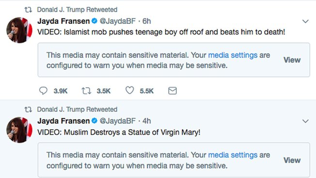 Here's Where Trump's Retweeted Anti-Muslim Videos Come From