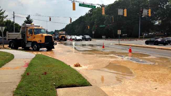 Traffic Delays, Water Outage in Lanham Due to Broken Water Pipe