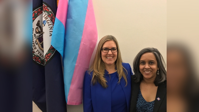 New Virginia Congresswoman Displays Transgender Flag Outside Her Office on First Day