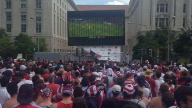 Crowd of 4,000 Gathers for World Cup Watch Party