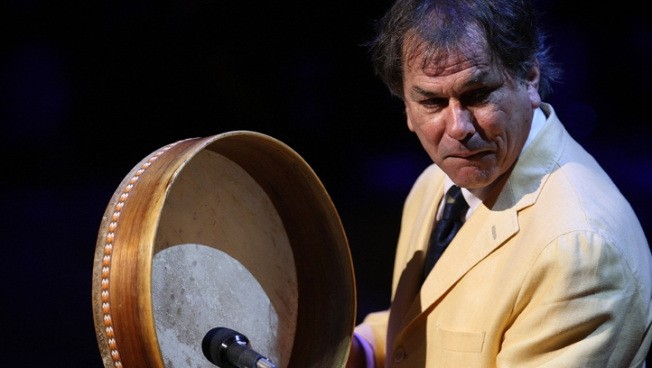Grateful Dead's Mickey Hart Drums at AARP Meeting