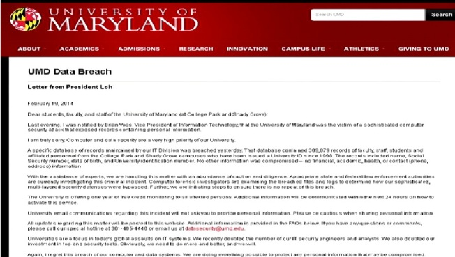UMD Data Breach: What You Need to Know