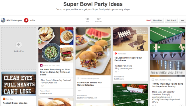 Get Your Party Game Day Ready With the News4 Pinterest Page