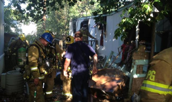 Mobile Home Fire Displaces Family, Injures Firefighter