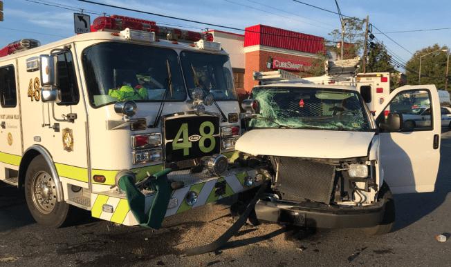 3 Firefighters Taken to Hospital After Crash With Van in Lanham