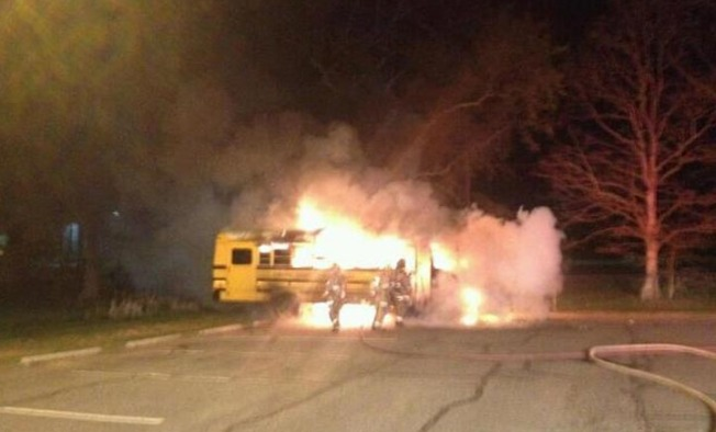 Stafford County School Bus Fire