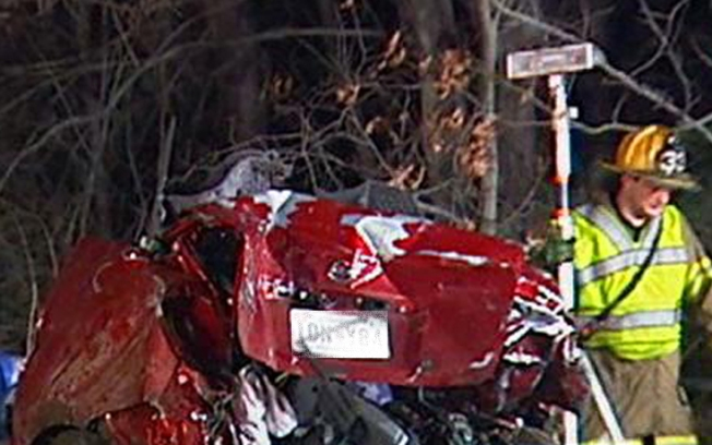 Three Dead, Car Crushed in Fatal Rt. 50 Accident