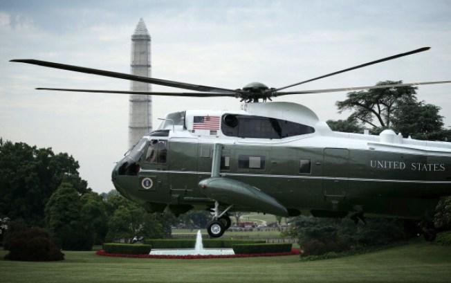 Presidential Chopper Makes Unplanned Landing in New Jersey