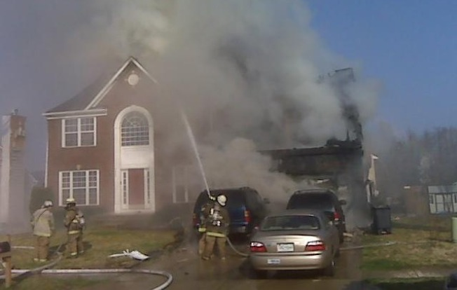 Pr. George's Fire Collapses House Wall