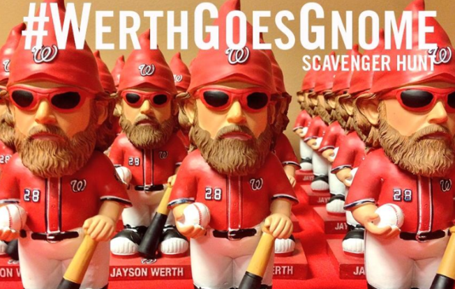 #WerthGoesGnome Scavenger Hunt: 100 Hidden Across D.C. Area; 6 Come With NLDS Tickets