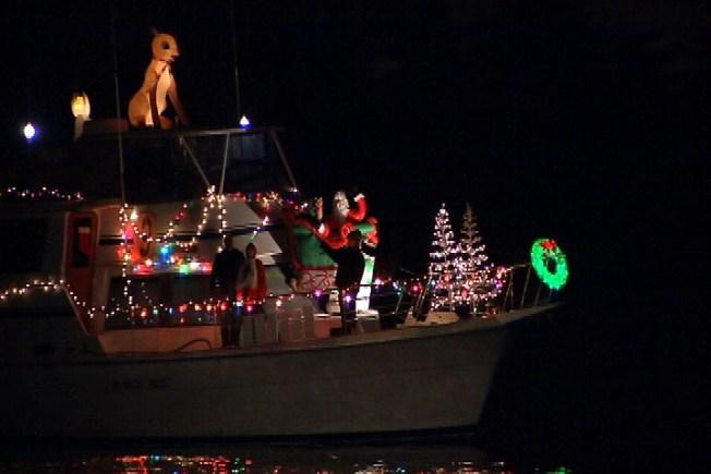 Boat Parade of Lights Illuminates Waterfront