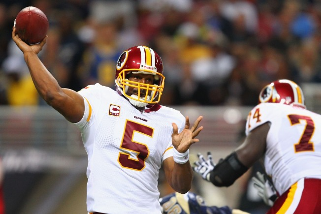 Washington Redskins Face the New York Football Giants