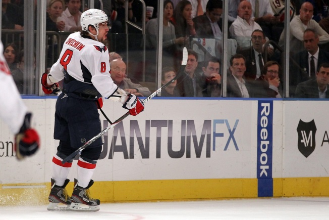 Ovechkin Silences Ranger Crowd in Game 2 Win