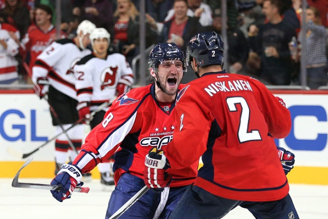 Ovechkin Dazzles as Capitals Beat Devils 5-3