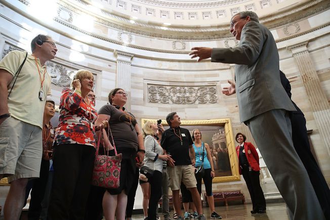 Capitol Rotunda Reopens to Visitors, Scaffolding Removed