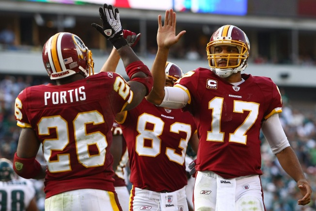 Skins Open Second Half With New-Look Offense