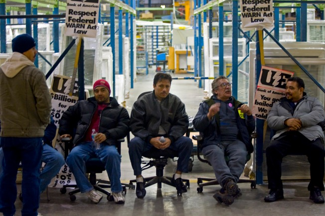 Workers Continue Factory Sit-in Despite Loan Offer
