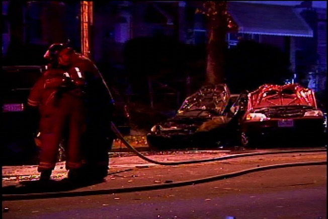 3 Hospitalized After Car Fire
