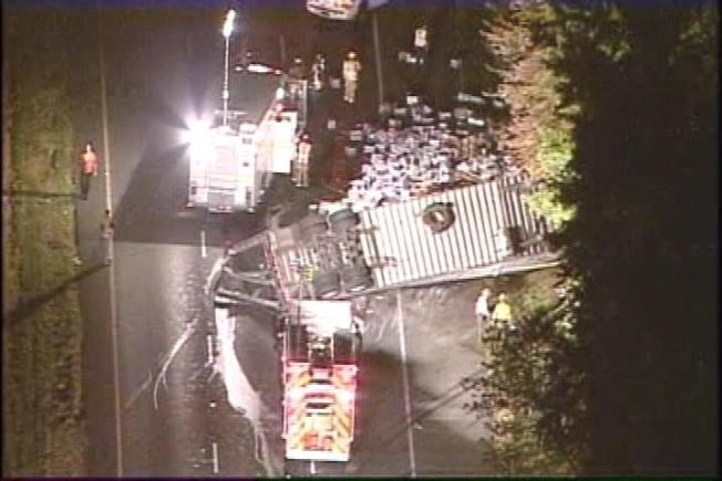 Overturned Tractor-Trailer Closes Portion of Beltway