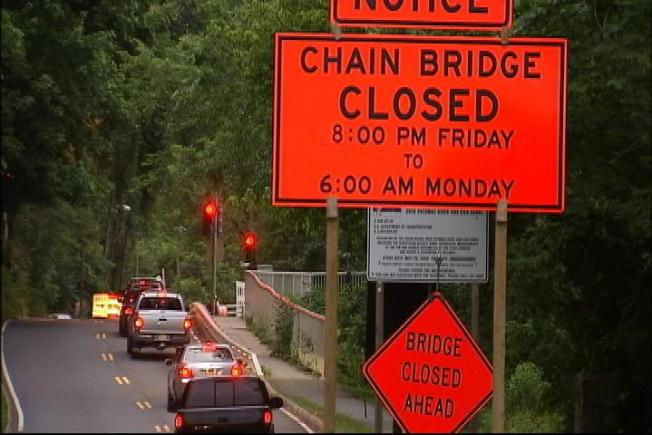 Chain Bridge Closed for Weekend