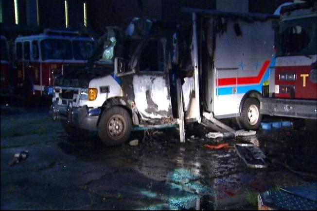 D.C. Emergency Vehicles Torched, Vandalized