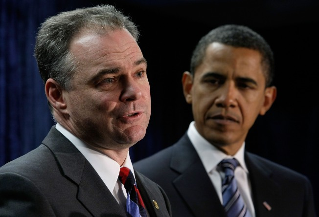 Va. Choosing Democratic President Kaine's Brightest Moment