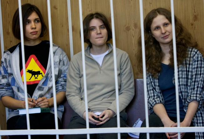 Protesters Rally Outside Russian Embassy for Convicted Feminist Punks