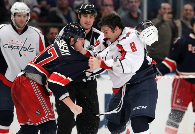 Ovechkin's Fight Can't Rally Caps to Victory
