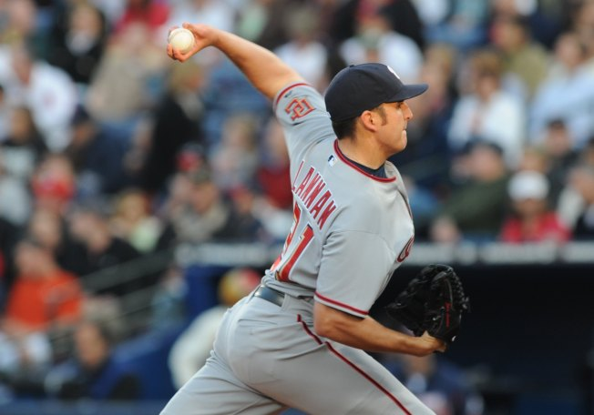 Lannan Pitches Nationals to Rainy Win Over Marlins