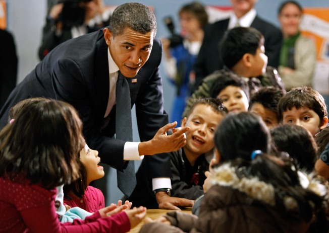 School Day for Obama
