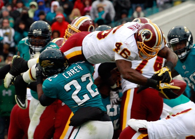 Redskins Win With a Patchwork Cast