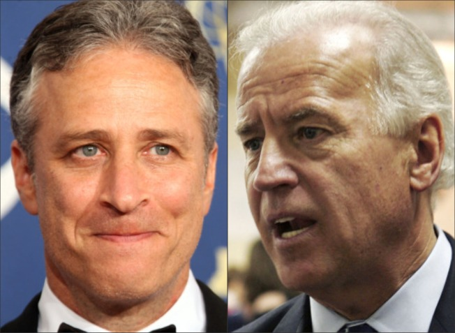 No Gaffes, Few Laughs for Biden's Sitdown with Stewart