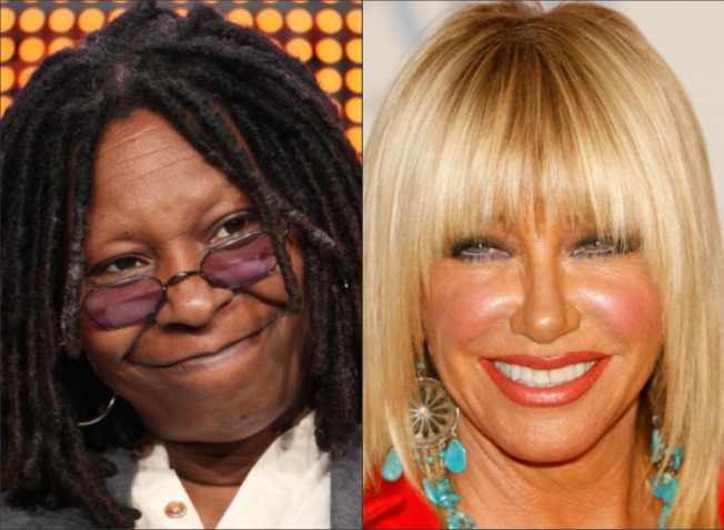 Whoopi Slams Somers Over Swayze Chemo Comment