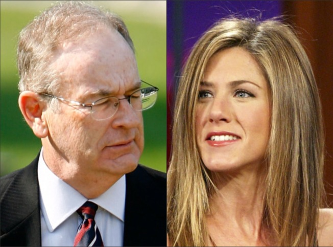 "Not Friends: Fox's O'Reilly Blasts Aniston Over ""Men"" Comment"
