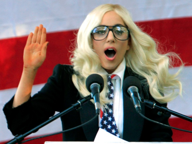 """Lady Gaga and Other Celebs Tout """"Don't Ask"""" Repeal"""