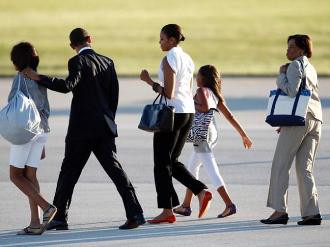 Obamas Not Shirking Parental Duties