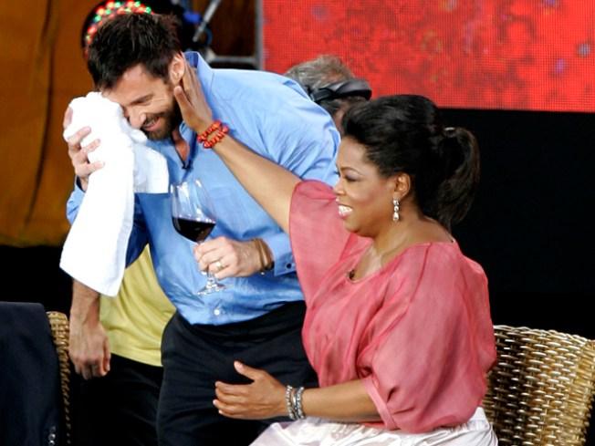 """""""Oprah"""" Stunt Leaves Mark on Hugh Jackman"""