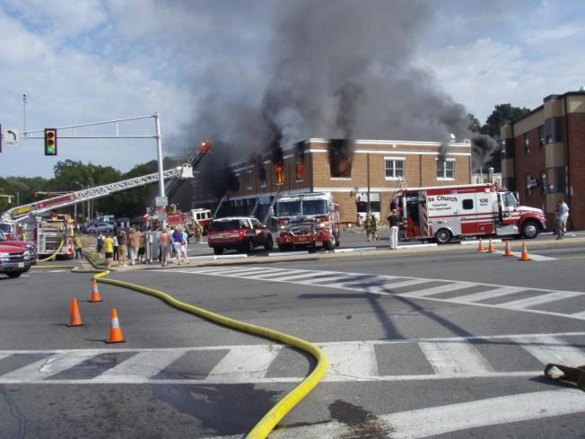 Strip Mall Fire in Falls Church
