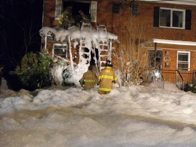 Pr. George's Fire Uses Foam To Extinguish Blaze