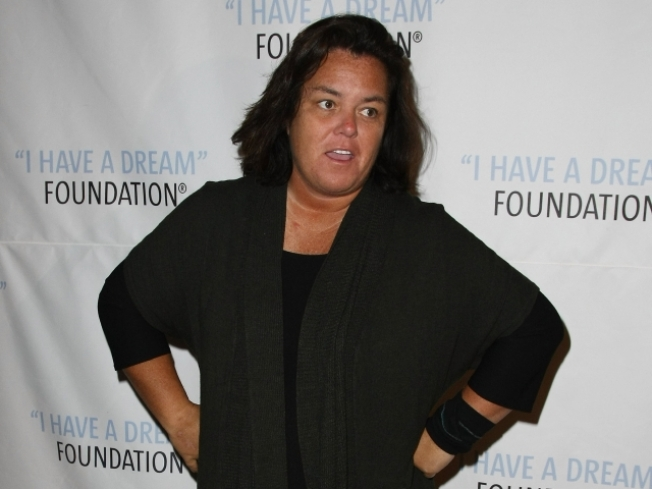 Rosie O'Donnell and Partner on The Rocks