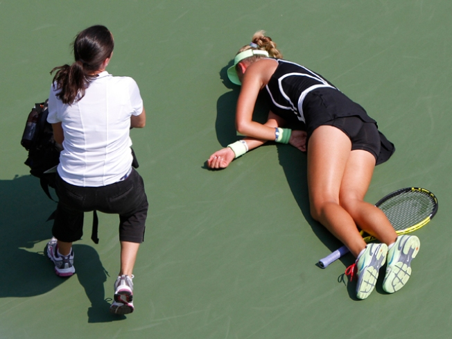 Player Collapses in Heat at U.S. Open