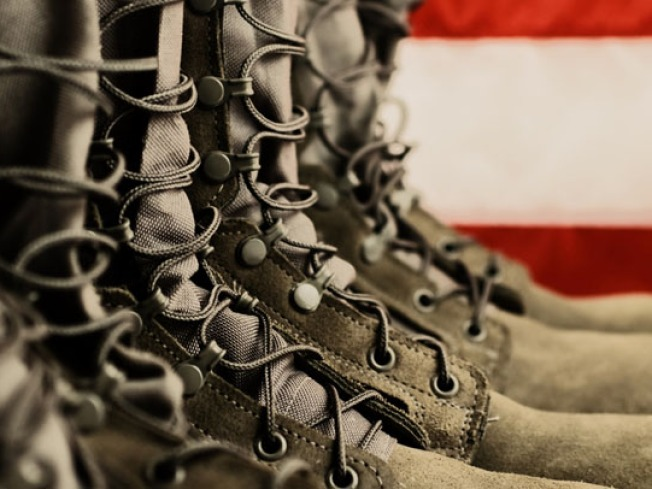 Empty Combat Boots Tribute to Honor Fallen Heroes