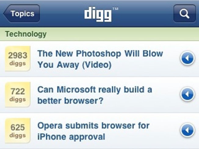 Digg Launches iPhone App